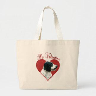 English Springer(black) Valentine Canvas Bags