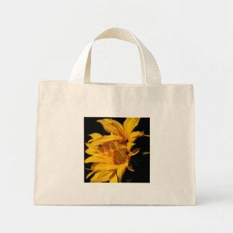 Entwined sunflowers canvas bag