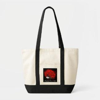 Fall In Love Happily Ever After Tree Red Leaves Canvas Bag