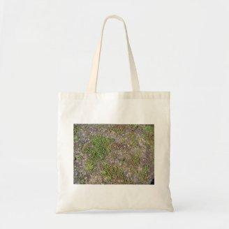 Field with Some Grass Canvas Bags