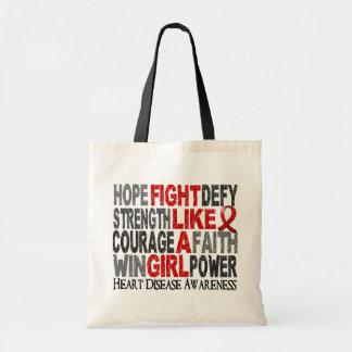 Fight Like A Girl Heart Disease 23.3 Tote Bags
