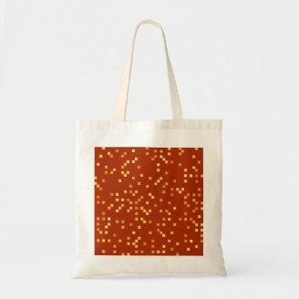 Fire Colors, Square Dots Pattern. Tote Bag