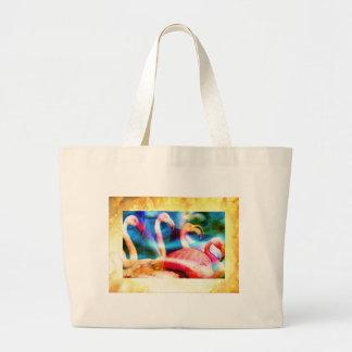 Flamingo Art 2 Canvas Bag