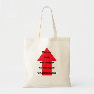 Follow this Red Arrow tote Bags