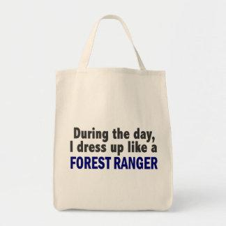 Forest Ranger During The Day Tote Bags