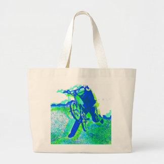 Freestyle BMX Rider in Cool Pop Art Style Canvas Bag