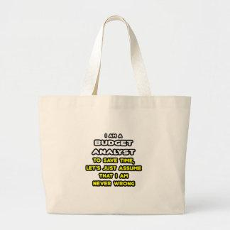 Funny Budget Analyst T-Shirts and Gifts Canvas Bags
