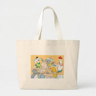 Funny Classroom Composed of Farm Animals Tote Bags