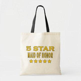 Funny Cool Gifts : Five Star Maid of Honor Bag