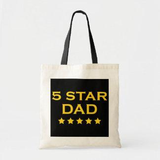 Funny Cool Gifts for Dads : Five Star Dad Tote Bag