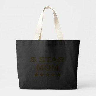 Funny Cool Gifts for Moms : Five Star Mom Canvas Bag