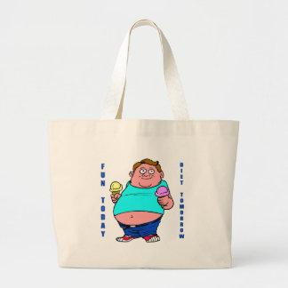 Funny Dieting Canvas Bags