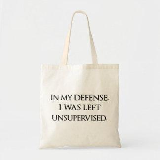 Funny Excuse Quote Witty Manly Typography Quotes Tote Bag