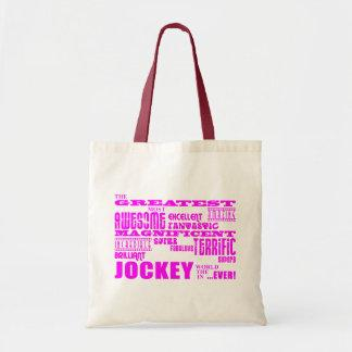 Girls Jockeys : Pink Greatest Jockey Canvas Bag