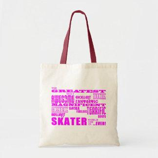 Girls Skaters : Pink Greatest Skater Canvas Bag