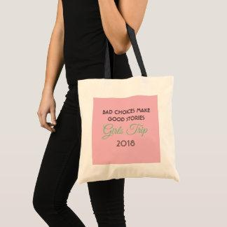 girls trip tote bag