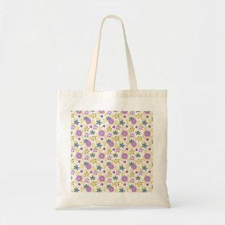 Girly Feminine Flower Pattern Canvas Bags