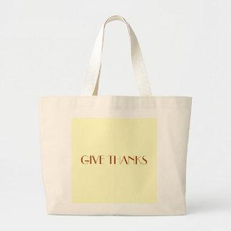 GIVE THANKS CANVAS BAG