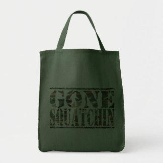 Gone Squatchin Camo Font Tote Bag