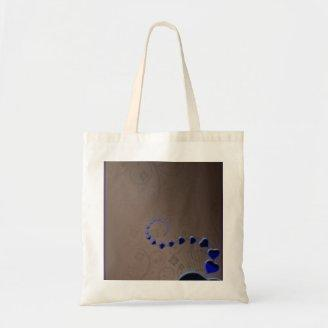 Gorgeous bluish hearts valentine gift tote bags