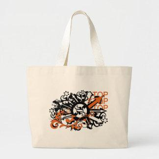 grunge floral arrows image bags