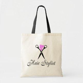 Hair Stylist (Pink/Scissors) Canvas Bags