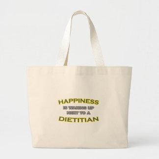 Happiness Is Waking Up Next To a Dietitian Tote Bag