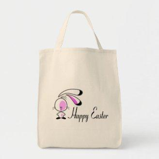 Happy Easter Bunny Tote Bags