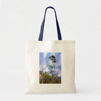 Happy Easter Egg Fantasy Canvas Bags