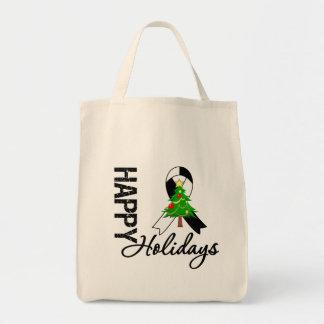 Happy Holidays Carcinoid Cancer Awareness Tote Bags