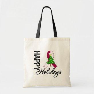 Happy Holidays Head and Neck Cancer Awareness Bag
