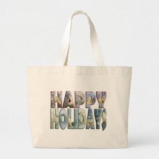 Happy Holidays Polar Bears Bag