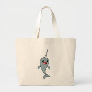 Happy Narwhal Canvas Bag