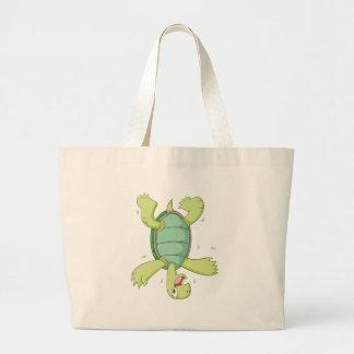 Happy Tortoise doing Headspin Bag