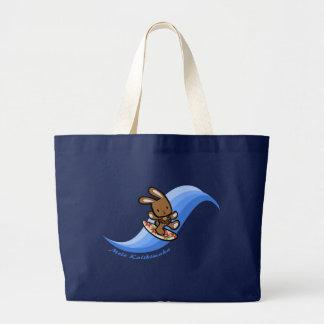 Hawaiian Surfing Bunny Bags and Totes