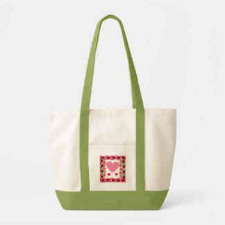 Heart Ladybugs Canvas Bag