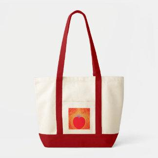 Heart on Gold Large Tote Bag