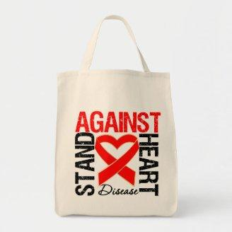 Heart Ribbon v3 - Stand Against Heart Disease Tote Bags