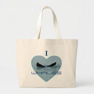 Heart with Whale Tail Photo Bag