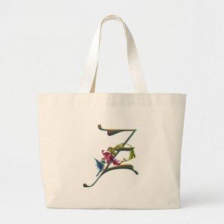 Hummingbird Monogram Z Canvas Bags