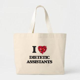 I love Dietetic Assistants Jumbo Tote Bag