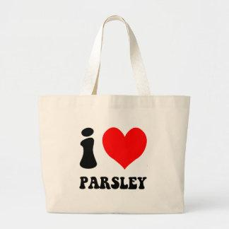 i love parsley canvas bags