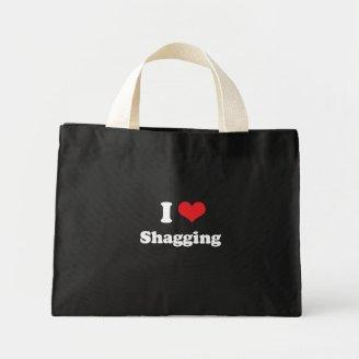 I LOVE SHAGGING - .png Bags