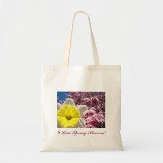 I Love Spring Flowers! Tote bag Daffodils Blossoms