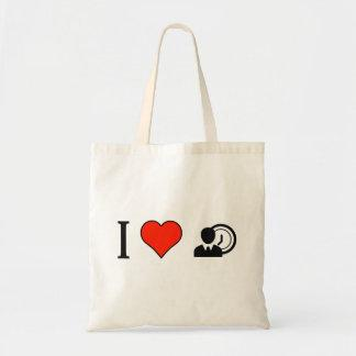 I Love Time-Conscious People Budget Tote Bag
