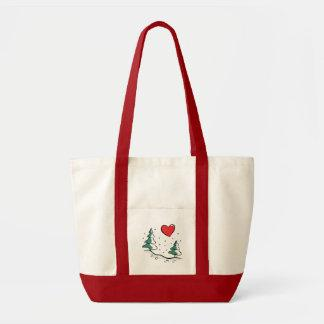 I Love Winter Canvas Bags