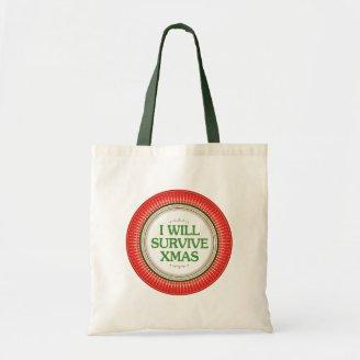 I Will Survive Xmas Fitness Inspiration Tote Bag