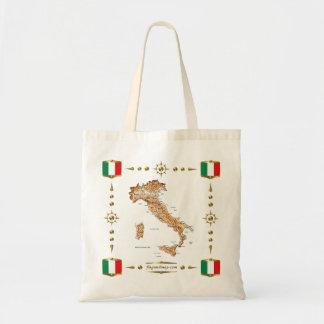 Italy Map   Flags Bag