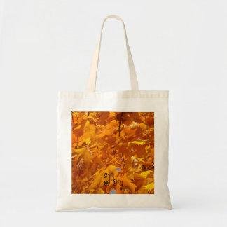 Joy tote bags Orange Golden Leaves Totes gifts
