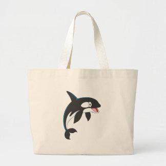 Joyful Killer Whale Canvas Bag